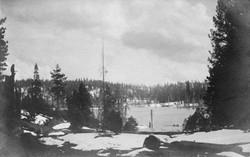 M083 Shaver Lake shore in snow, circa 19