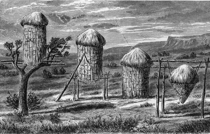 Sketch of Yokuts Acorn Granaries