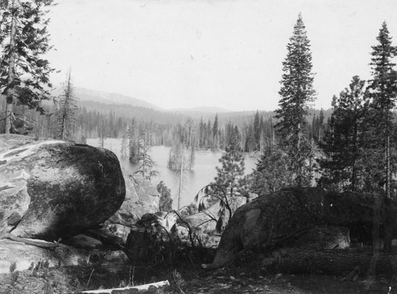 M063 View of Shaver Lake, circa 1900