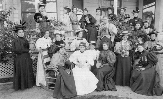 AR52 Query Club on porch, April 26, 1896
