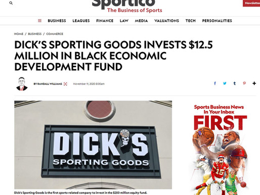 DICK'S Sporting Goods Invests $12.5 Million in Black Economic Development Fund