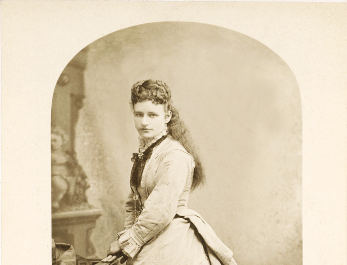 Mary Hoxie photographed in portrait studio