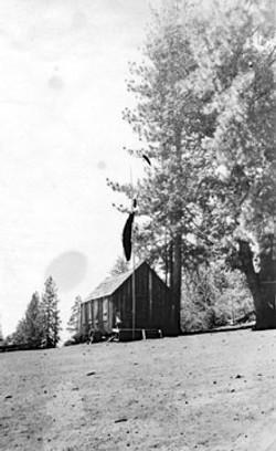 M048 Old schoolhouse at Pine Ridge, Aug.