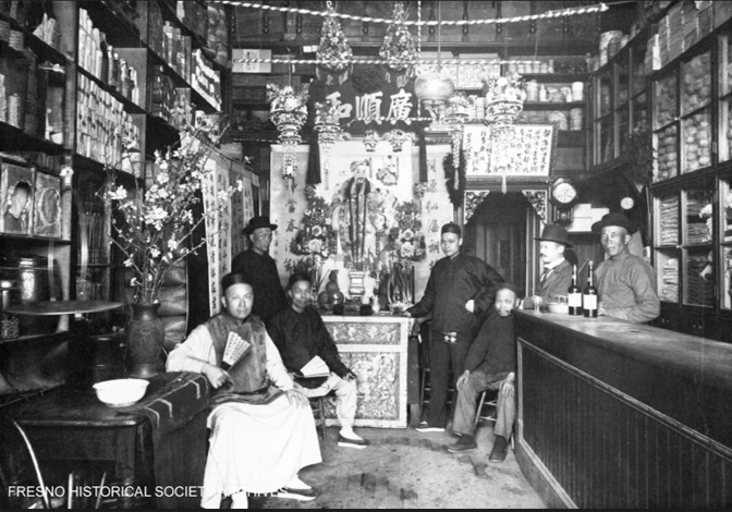 Chinese Herb Shop in Chinatown, Fresno,CA.