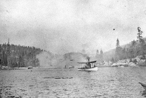 M060 Michigan steam boat on Shaver Lake,