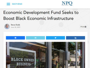 Economic Development Fund Seeks to Boost Black Economic Infrastructure