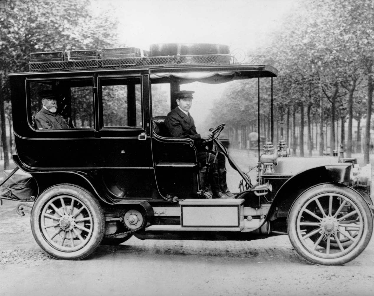 Mr. Kearney in his Mercedes-Benz Limousine