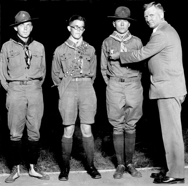 AR04 Clayton Chandler with Eagle Scouts,