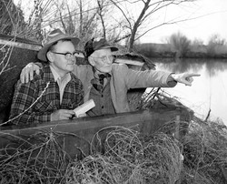 AB71 Dady Ball with son in hunting blind