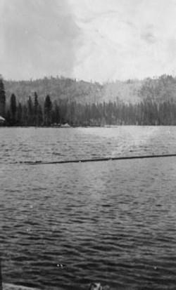 M079 Looking across Shaver Lake, circa 1