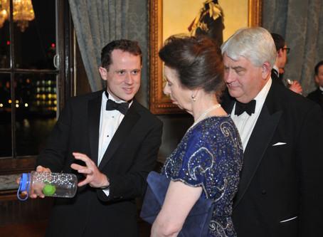 Dr Ben Pilgrim presents work to HRH The Princess Royal