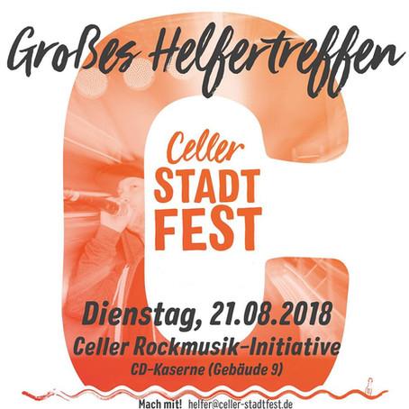 Großes Helfertreffen am 21.08.2018!