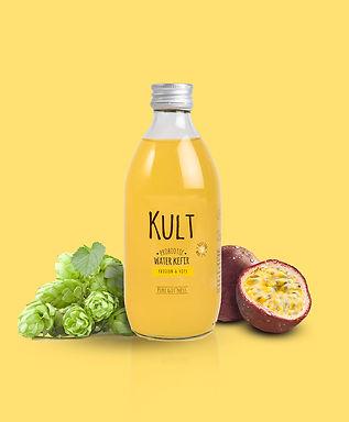 Kult kefir probiotic passion hop probiotique drink boisson fermentée fermented kombucha bio belge