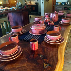 Hand-painted Set of Dishware
