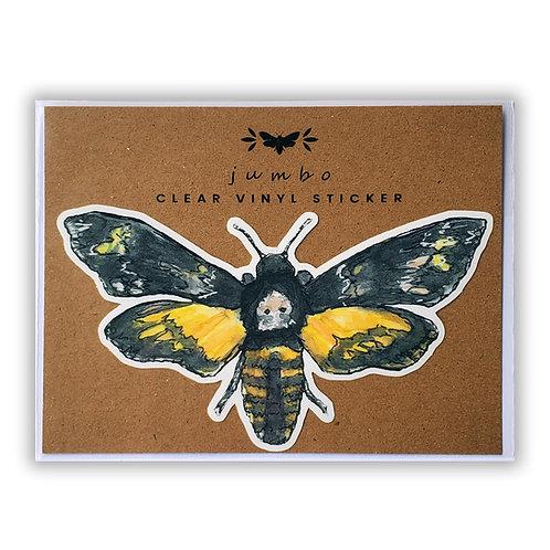 Death's Head Hawkmoth - Jumbo 5in. Clear Vinyl Sticker
