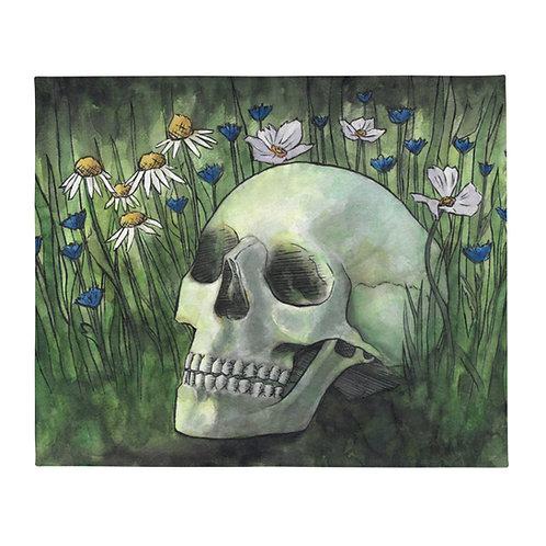 'Fertilized by Misfortune' Throw Blanket