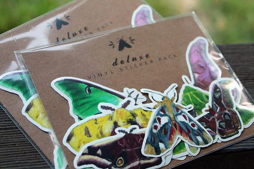 Moth - Glossy Deluxe Sticker Pack