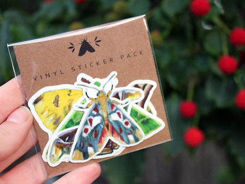 Moth - Glossy Sticker Pack