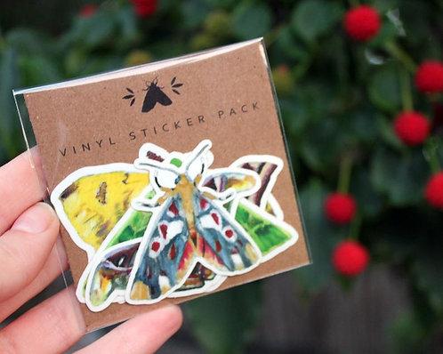 Moth - Glossy Sticker Pack (5)