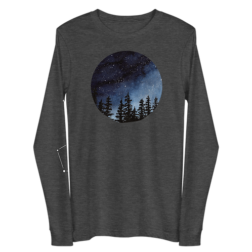 'Night Sky Constellation' Unisex Long Sleeve Tee