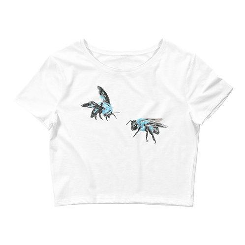 'Blue Bees' Crop Top