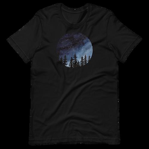 'Night Sky' Unisex Short Sleeve T-Shirt