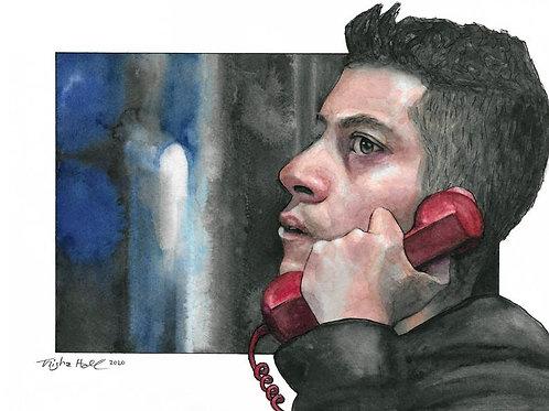 Mr. Robot | Rami Malek Portrait | Watercolor Painting