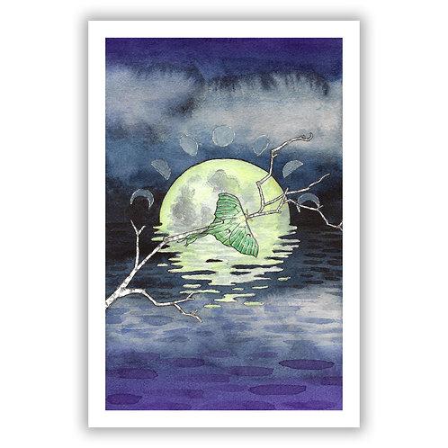 'The Moon' Tarot - Giclee Print