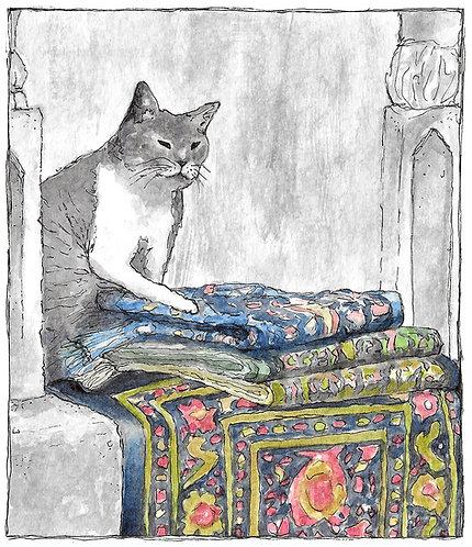 Khajiit Has Wares | Watercolor Painting