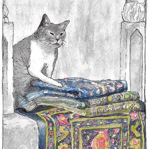 Khajiit Has Wares   Watercolor Painting