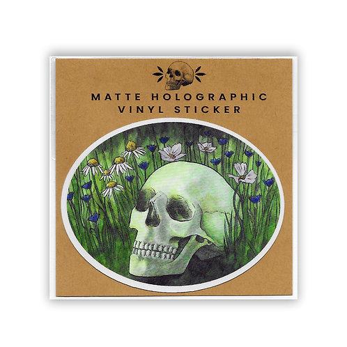 Fertilized by Misfortune | Matte Holo Vinyl Sticker