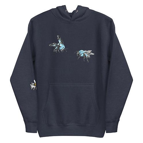 'Blue Bees' Unisex Hoodie