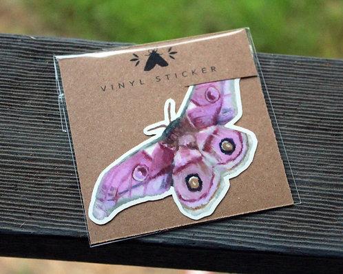 Emperor Silk Moth - Glossy Vinyl Sticker