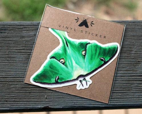 Luna Moth - Glossy Vinyl Sticker