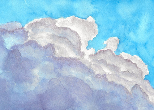 Manic Pixie Dream Cloud | Metallic Watercolor Painting