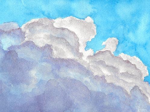 Manic Pixie Dream Cloud   Metallic Watercolor Painting