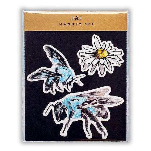 Blue Carpenter Bee - Magnet Set (3)