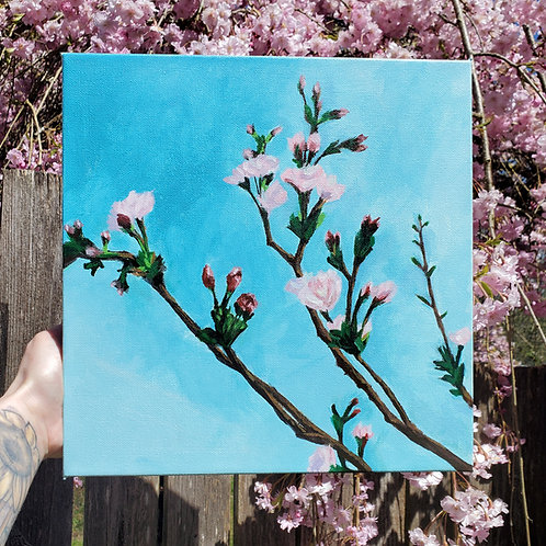 Cherry Blossoms | Acrylic Painting