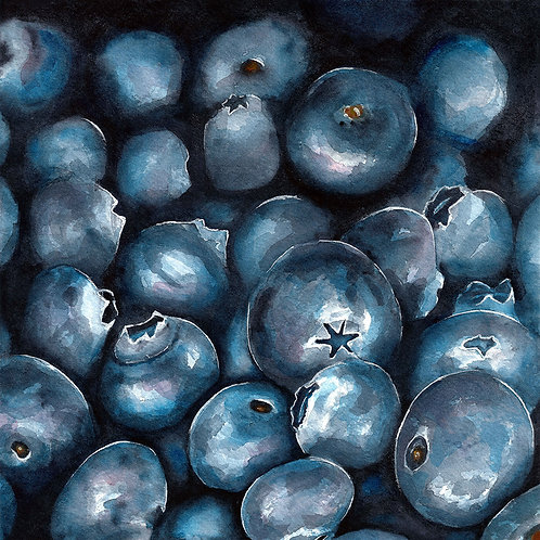 Blueberries | Watercolor Painting