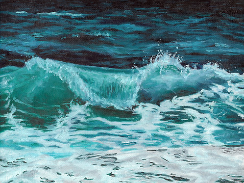 Cresting Wave | Oil Painting