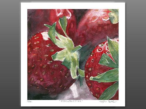 Strawberries - Giclee Print