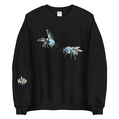 'Blue Bees' Unisex Crew Neck Sweater