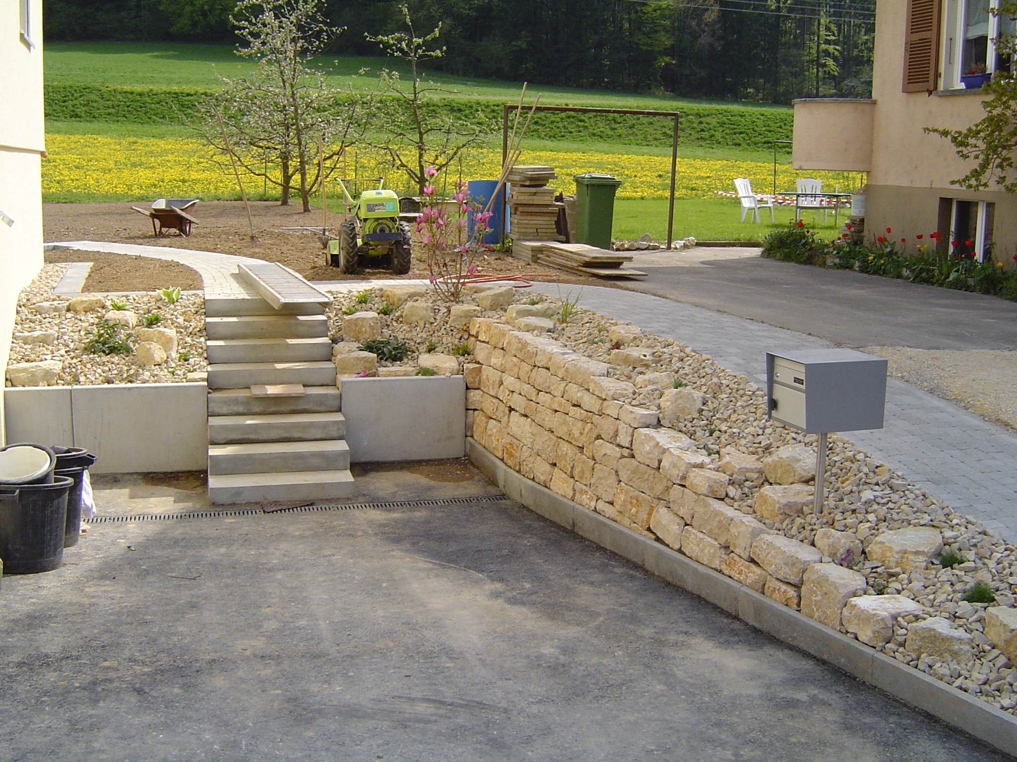 Mauer-Treppe