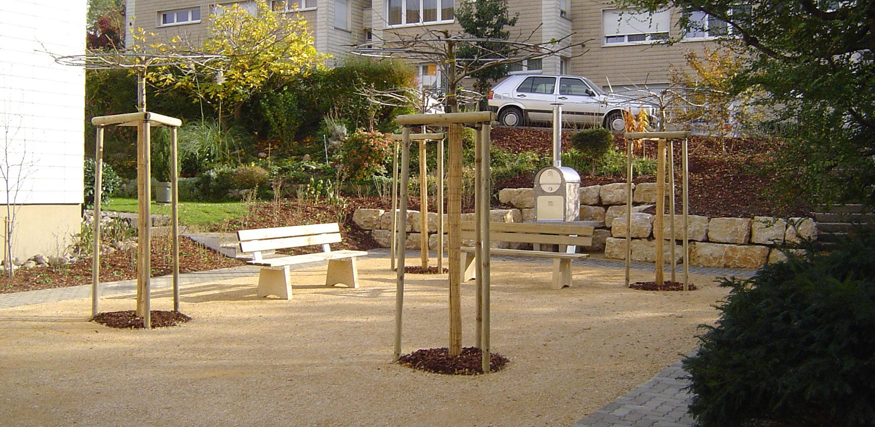 Sitzplatz Bepflanzung