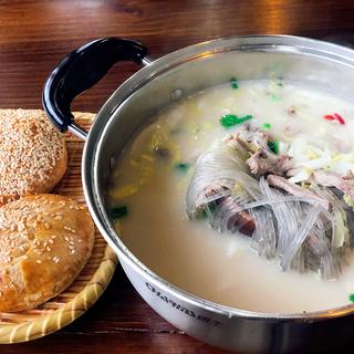 Lamb Soup + Crispy Cake