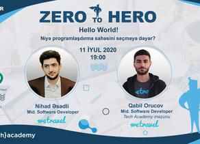 WEBINAR - ZERO to HERO: Hello World!