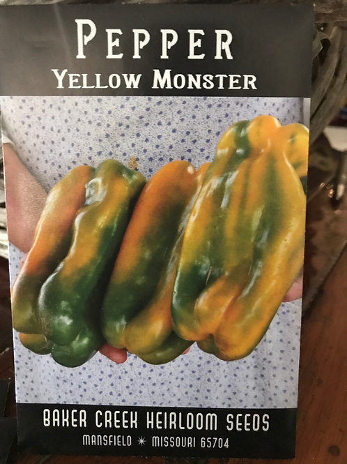 Pepper yellow monster