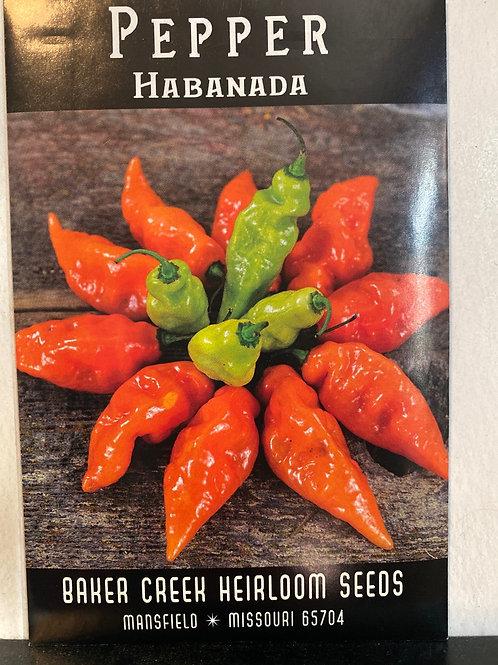 Baker Creek Heirloom Seeds - Pepper - Habanada