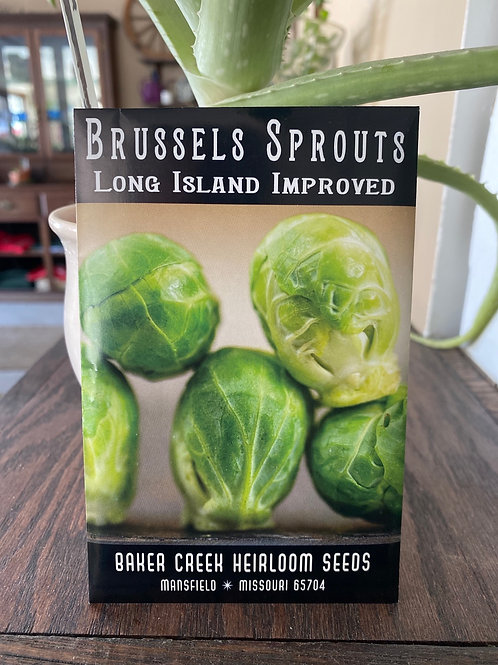 Baker Creek Heirloom Seeds - Brussel Sprouts - Long Island Improved