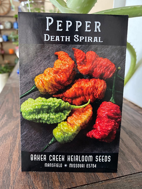 Baker Creek Heirloom Seeds - Pepper - Death Spiral